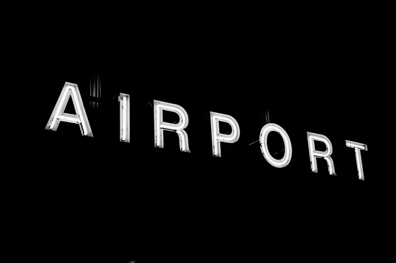 Sign Airport Neon Illuminated Area