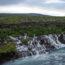Islandzkie wodospady (1) Fitjarfoss, Hraunfossar i Barnafoss